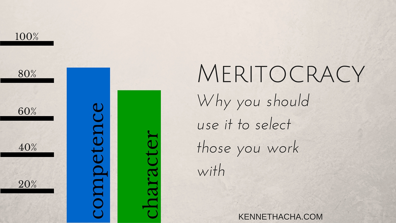 MERITOCRACY- why you should use it to select those you work with